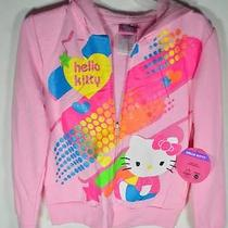 New Hello Size Xs Kitty Hoodie Jacket for Children Pink Children Juniors Photo