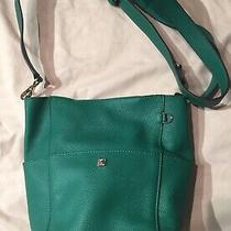 New Henri Bendel Purse Green Leather Crossbody Mini Hobo Bucket Bag Adjustable  Photo