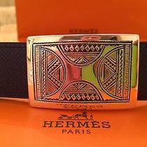 New Hermes Belt Buckle Touareg Tuareg Rectangle Sterling Silver No Reserve Photo