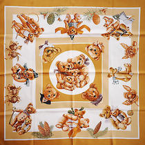 New Hermes Confidents Des Coeurs Silk Scarf by Loic Dubigeon Photo