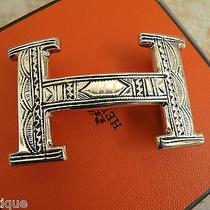 New Hermes H Belt Buckle Touareg Sterling Silver Limited From Niger Tribe Photo