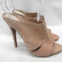 New Herve Leger Suede Leather Mule in Blush Size 40 Eur Photo