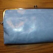 New Hobo Genuine Leather Vintage Lauren Clutch Purse Glacier Blue Ret. 110 Photo