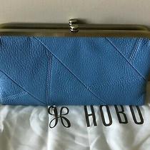 New Hobo International Lauren Leather Wallet .... Nwt ....  Dusty Blue ..  158 Photo