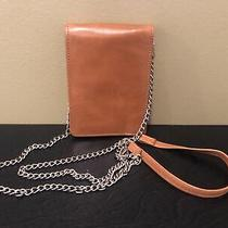 New Hobo Tan Leather Crossbody Wallet/phone Purse Photo