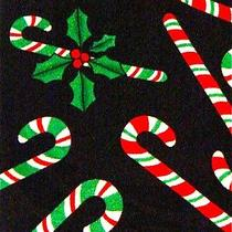 New Holiday Christmas Candy Canes & Holly Necktie Neck Tie Steven Harris Sleeved Photo