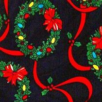 New Holiday Christmas Wreaths & Ribbons Necktie Neck Tie Steven Harris Sleeved Photo
