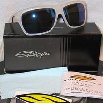New Hot Smith Style Fashion White and Blue Frame With Reflective Sunglasses. Photo