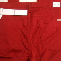 New Hudson Nico Mid Rise Super Skinny Red Denim Pants Jeans Size 29 Spring  Photo
