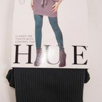 New Hue Classic Rib Tights With Control Top Green Size 1 Photo