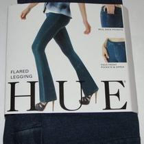New Hue Flared Leggings Jeanz Blue Denim Legging Leggings Xs Photo
