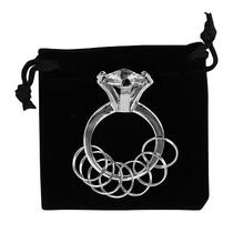 New Huge Imitation Silver Diamond Ring Key Chain  Free Shipping Photo
