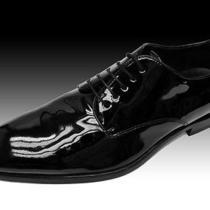 New Hugo Boss Black Patent Leather Tuxedo Wedding Dress Shoes Oxfords 9 42 Photo