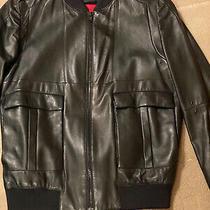 New Hugo Boss Womens Lindy Leather Jacket Msrp 895 Size  Xs Photo