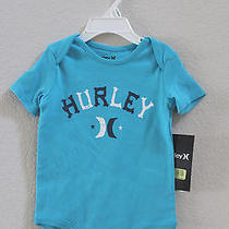 New Hurley Baby Boy Infant Toddler Short Sleeve Bodysuit One Piece 9-12 Months Photo