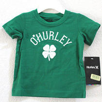 New Hurley Baby Boy Infant Toddler Short Sleeve Green T Shirt Tee Size 12 Months Photo