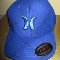 New Hurley Ball Cap Hat Mens S M Royal Blue Plaid Puerto Rico Bias Photo