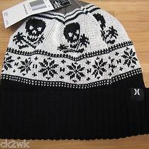 New Hurley Beanie Cap Hat Mens Osfa S M L Donner Skulls Black Photo