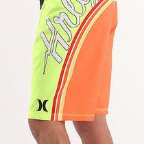 New Hurley Bolt Boardshorts Shorts Mens 28 Swimsuit Neon Yellow Orange Photo