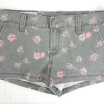 New Hurley Girls Faded Denim Jean Shorts Gray Sizes 00 1 5 9 13 Msrp 35 Nwt Photo