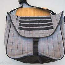 New Hurley Laptop Backpack Student Pack Messenger Book Bag Black Plaid Photo