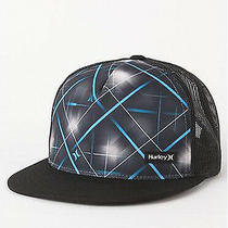 New Hurley Men's Guy's Trucker Snapback Ball Hat Baseball Cap Ballhat One Size Photo