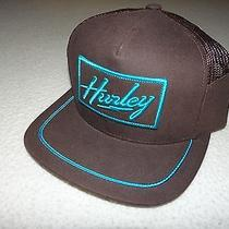 New Hurley Mens Baron Mesh Trucker Flat Brim Snap Back Cap Hat Osfa Photo