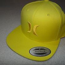 New Hurley Mens Flat Brim Snap Back Cap Hat Osfa Photo