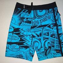 New Hurley Mens Griffin 22 Board Surf Shorts 32 Photo