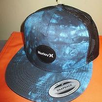 New Hurley Trucker Ball Cap Hat Mens S M L 1sz Blue Black Snapback Photo