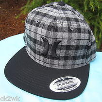 New Hurley Trucker Ball Cap Hat Mens S M L 1sz Grey Black Snapback Photo