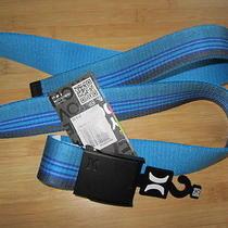 New Hurley Web Belt Vegan Mens S M L Xl Blue Grey Bottle Opener Honor Roll Photo