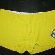 New Hurley Women's Shorts Size 7 Bright Yellow New With Tags Photo
