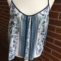 New in Bloom Jonquil Pajama Top Tank Cami Blue White Photo