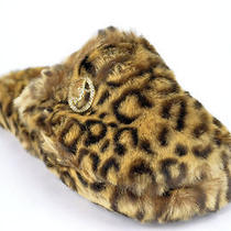 New in Box 35 Michael Kors Jet Set Mk Fur Women's Cheetah Faux Fur Slippers Us8 Photo