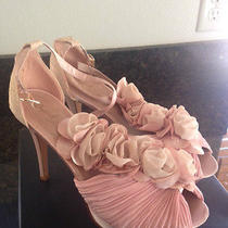 New in Box 52 Qupid Luxe Blush Flowers Danica Heels Platform Sex and the City Photo