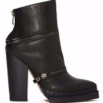 New in Box 6 Jeffrey Campbell Black Leather Section 3 Boot Zipper Boho Hot Sexy Photo