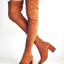 New in Box 6 Jeffrey Campbell Cienega Tan Suede Over the Knee Boots Free People Photo