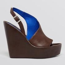 New in Box 7 Jeffrey Campbell Brown Leather Mimosa Wedge Nasty Gal Boho Sexy Hot Photo