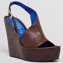 New in Box 8.5 Jeffrey Campbell Brown Leather Mimosa Wedge Nasty Gal Boho Sexy Photo