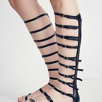 New in Box 9 Jeffrey Campbell Black Leather Gladiator Sandal Nasty Gal Sexy Photo