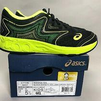 New in Box Asics Gel-Noosa Gs Size 5.5 Big Kids Running Shoes Black/yellow/green Photo