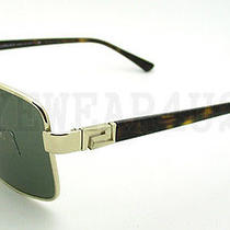 New in Box Authentic Versace Ve 2141 Pale Gold 1252/52 Sunglasses  Photo