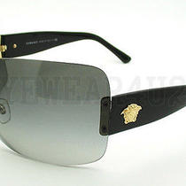 New in Box Authentic Versace Ve 4248 Gb1/11 Black Sunglasses  Photo