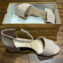 New in Box Bella Vita Womens Dan-Italy Blush Ankle Strap Heels Size 12 Photo