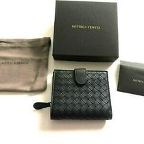 New in Box Bottega Veneta Intrecciato Bifold Wallet Leather Nero Black Photo