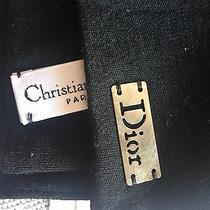 New in Box Christan Dior Scarf Black Photo