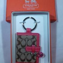 New in Box Coach Large Signature C Picture Frame Key Chain Ring Fob 92772b Photo