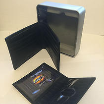 New in Box Fossil Men Black Leather Wallet Photo
