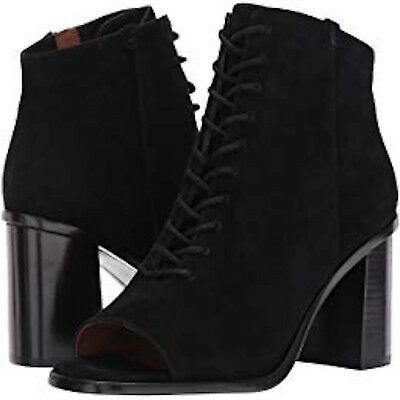 New in Box! Frye Boots 'Amy' peep-toe Lace-Up Bootie, Black. Women's Size 8.5. Photo